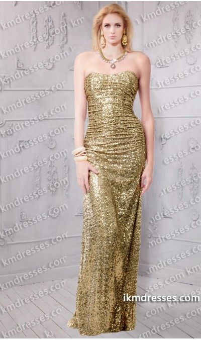 http://www.ikmdresses.com/sparkling-Ruched-Strapless-sweetheart-gold-sequins-dress-p60723