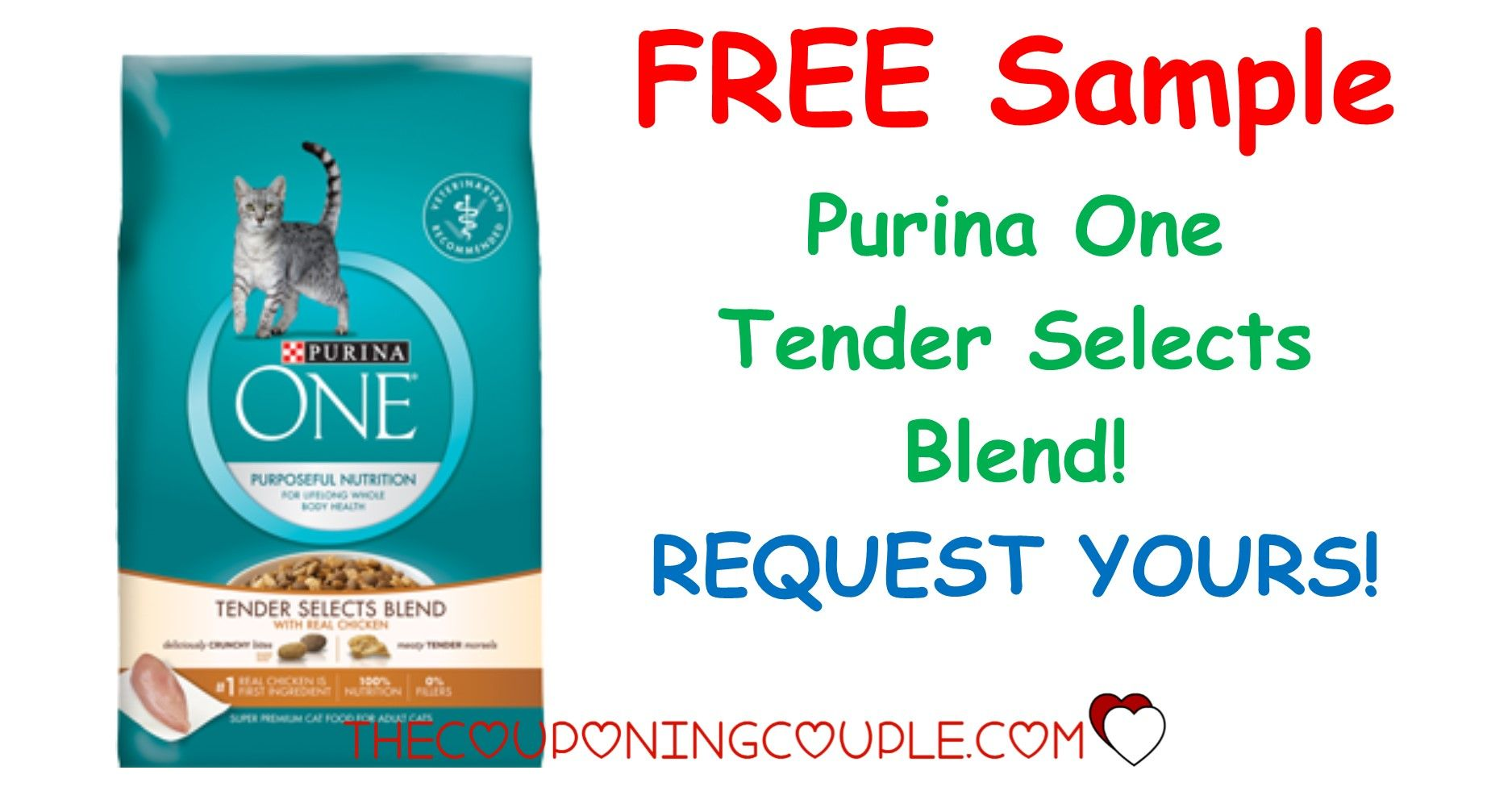 FREE SAMPLE! Get a free sample of Purina One Tender Selects Blends! Your kitty will love you! What a special treat! Request it now while supplies are available!  Click the link below to get all of the details ► http://www.thecouponingcouple.com/free-sample-purina-one-tender-selects-blend/ #Coupons #Couponing #CouponCommunity  Visit us at http://www.thecouponingcouple.com for more great posts!