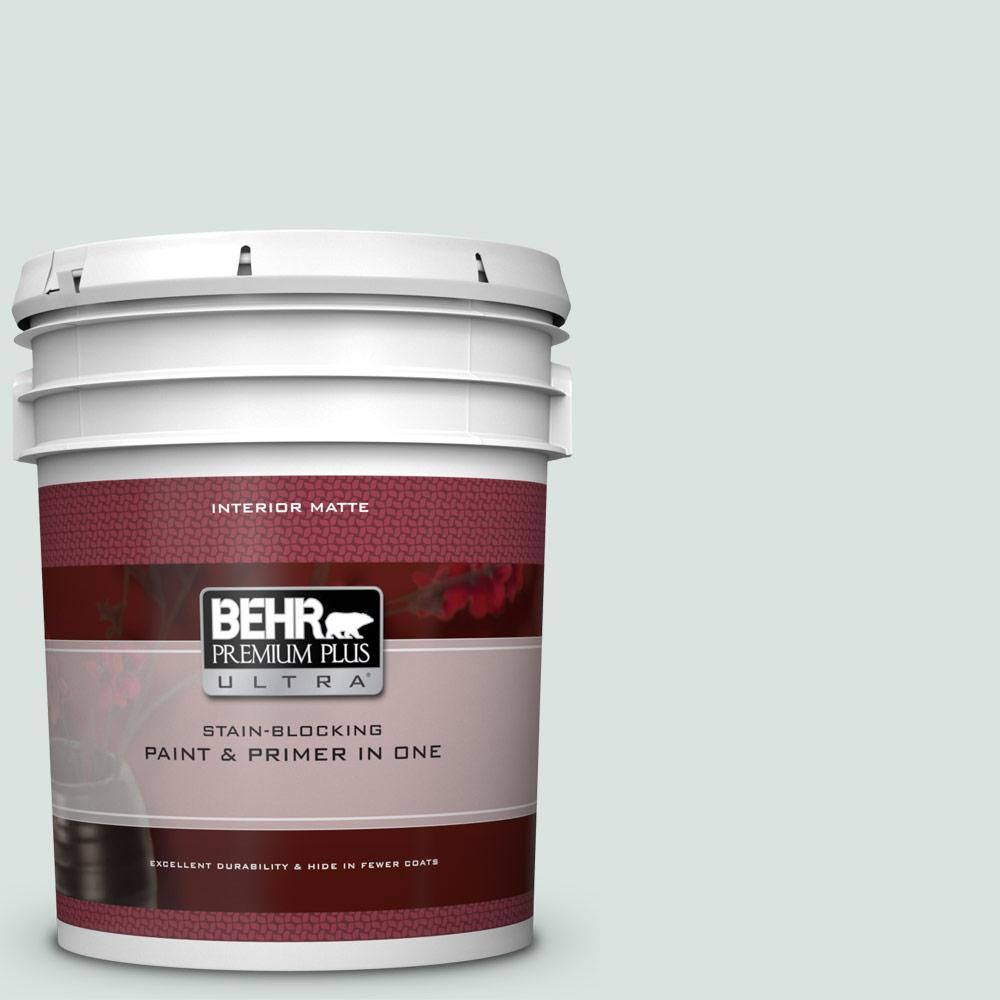 Behr Ultra 5 Gal N430 1 Mountain Peak White Matte Interior Paint And Primer In One 175005 Interior Paint Behr Exterior Paint