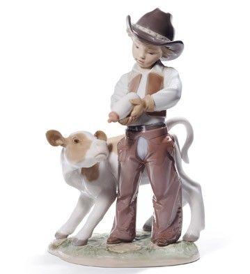 01008637 COWBOY - Lladró $750 Issue Year: 2012 Sculptor: Virginia González Size: 23x15 cm