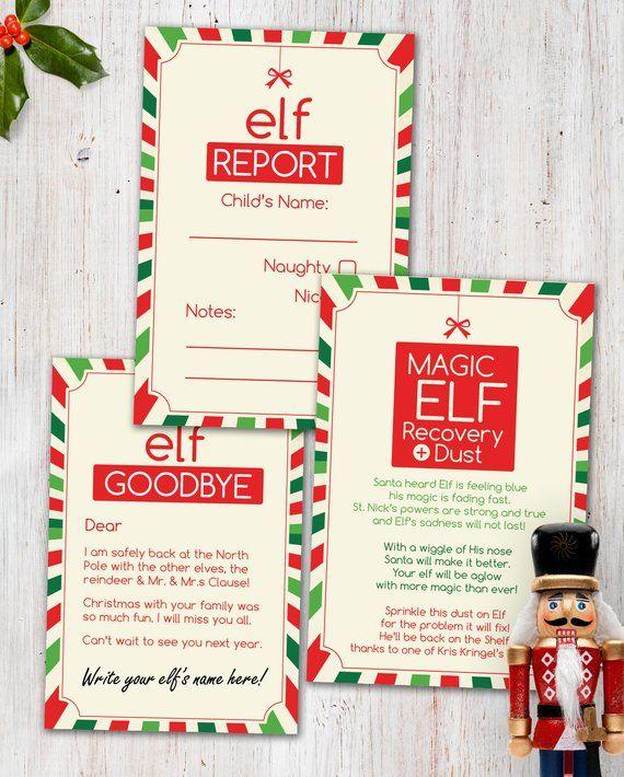 Magic Elf Visit - Combo Printable Pack