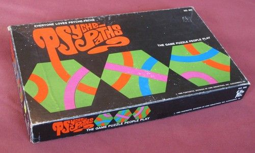 Vintage Psyche-Paths Boardgame Psychepaths Board Game 1969 Puzzle Funtastic