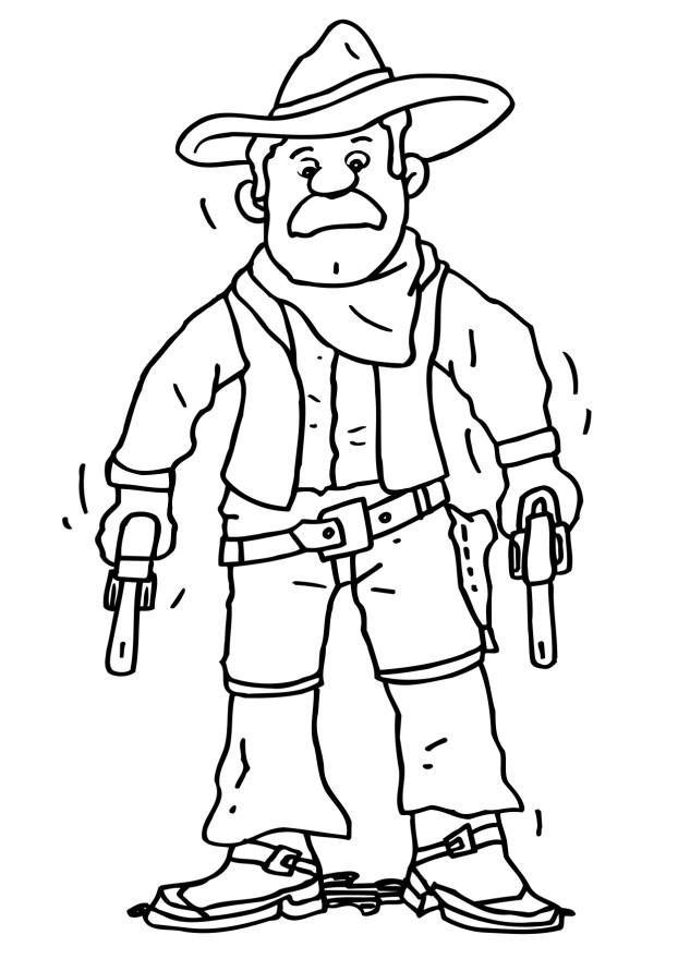 Cowboy Ausmalbilder Ausmalbilder Für Kinder Arbeits Malblätter