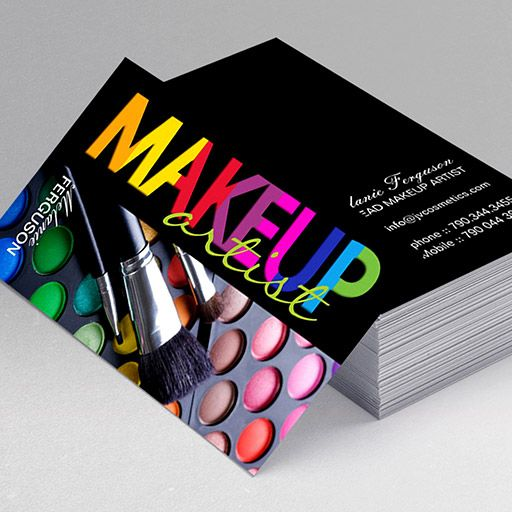 Customizable bold makeup artist business card makeup artist create your own personalised makeup artist business cards online all templates are industry specific and free to use accmission Image collections