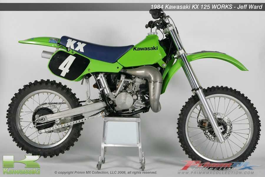 kawasaki kx 125 - 1984 jeff ward | motos oficiales mx | pinterest