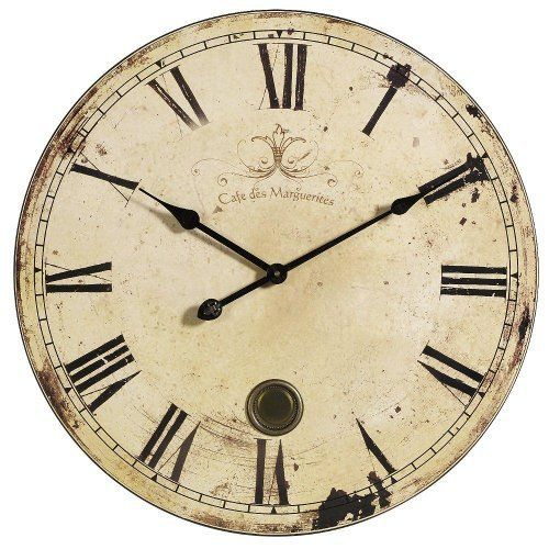 Aged Oversized Wall Clock, 23\