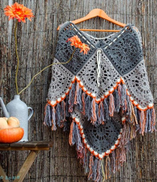 Crochet Poncho Free Pattern Best Ideas | Ponchos, Ganchillo y Patrones