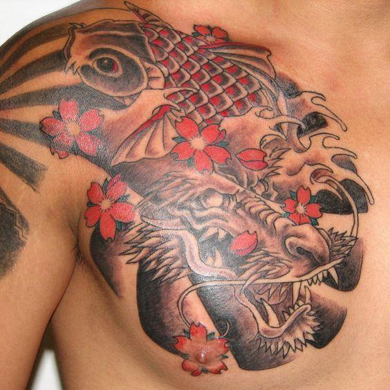 Cherry Blossom Tattoos For Men Ideas And Inspiration For Guys Dragon Tattoos For Men Japanese Tattoo Designs Koi Dragon Tattoo