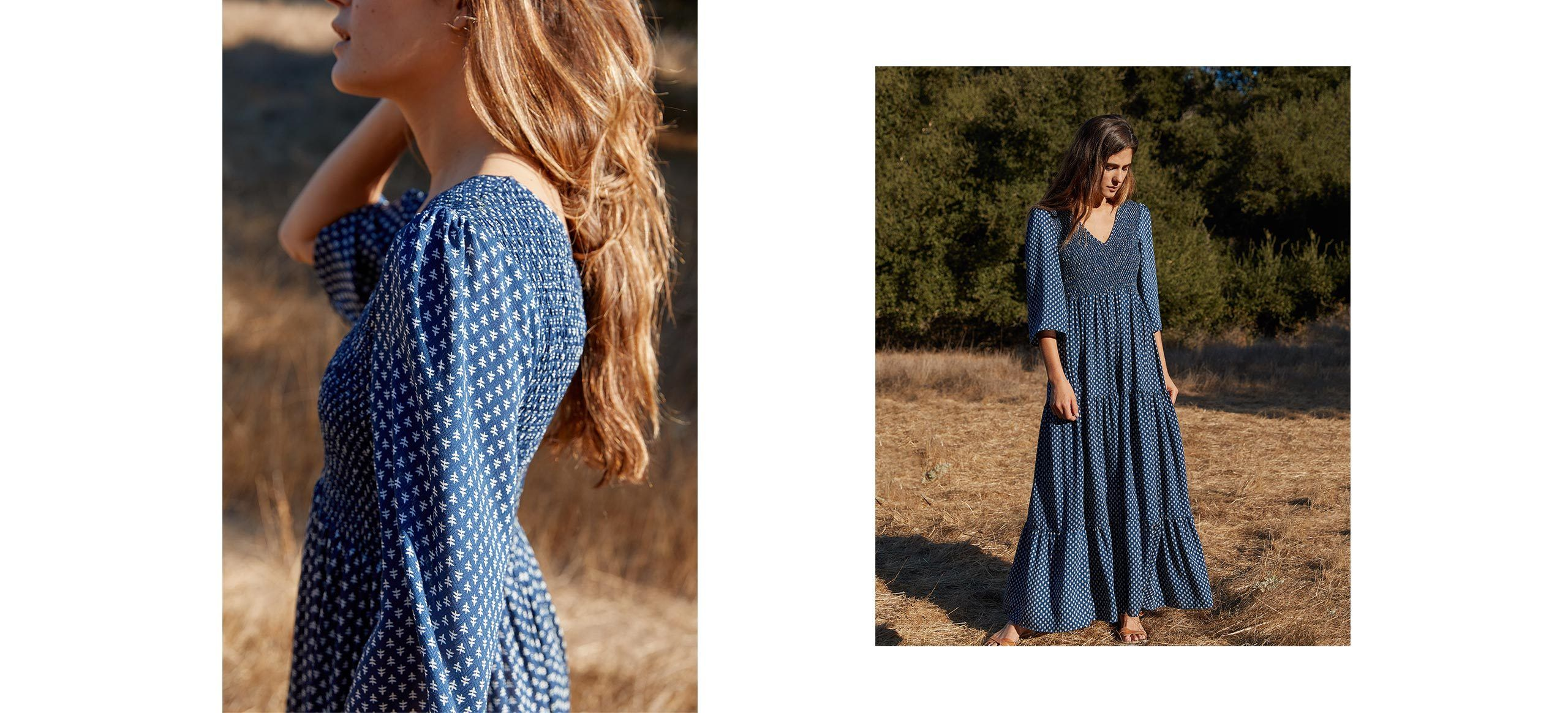Intricate Smocking On The Chest And Back Panels Makes Basil Top Rust