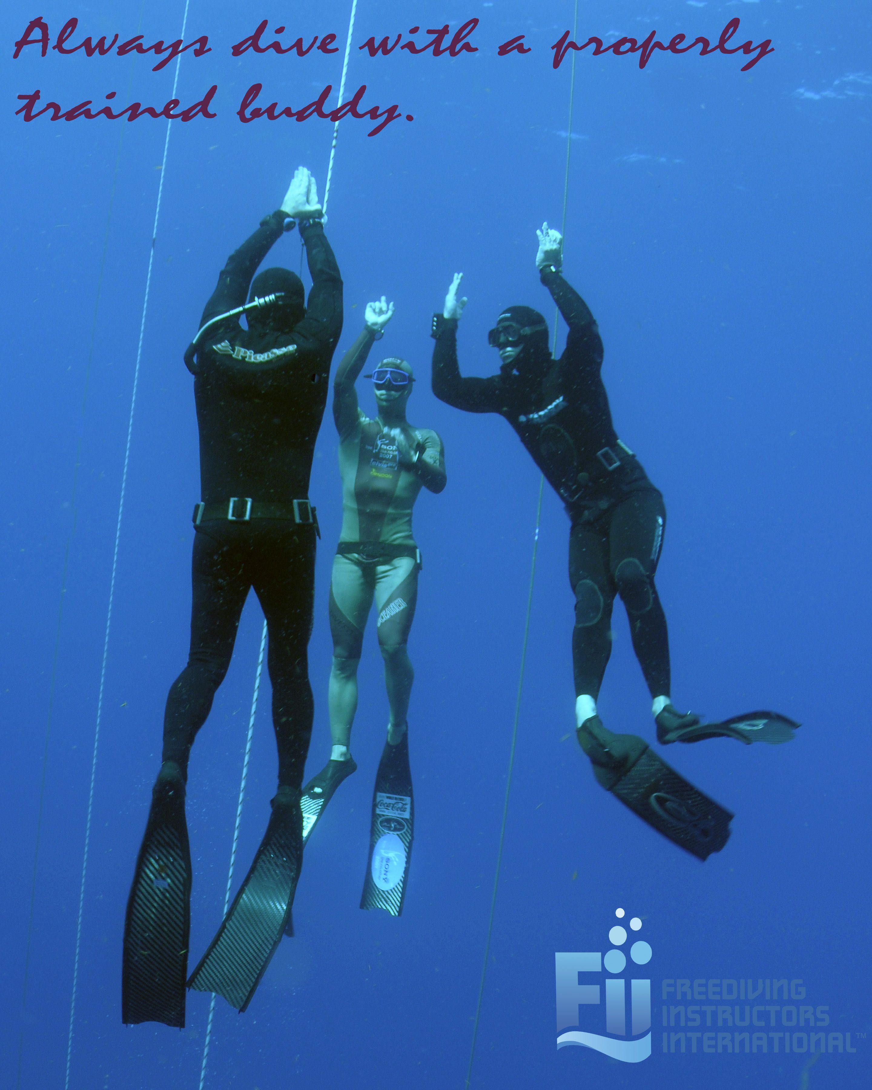 Never Freedive Alone. Freediving (Apnea Training) Is A