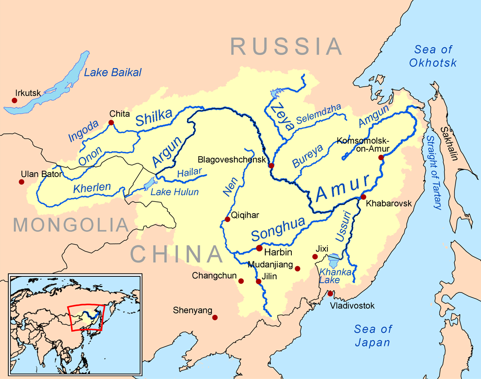 Map Of Asia Rivers.Amur River Maps Amur River Asia Map World Geography