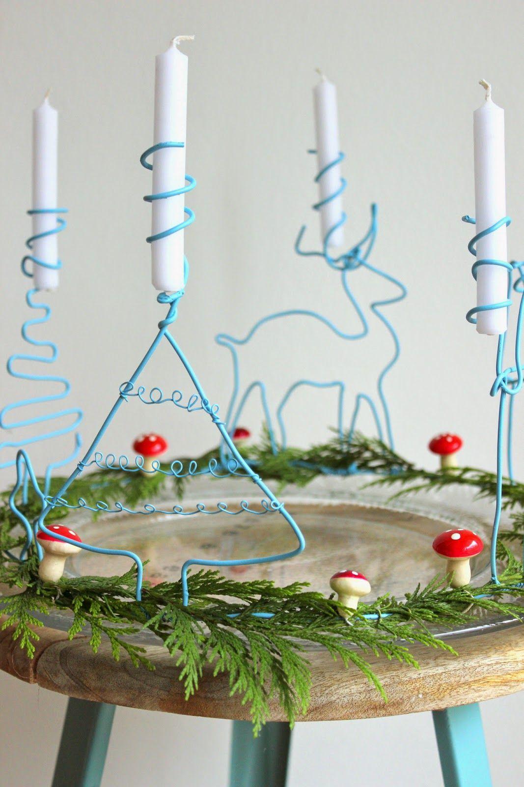 diy adventskranz aus draht weihnachtsbasteln. Black Bedroom Furniture Sets. Home Design Ideas
