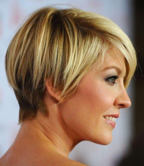 Bob Cut Hairstyles fantastic and fabulous bob cut Jenna Elfman Short Hairstyle Cute Layered Short Bob Cut With Bangs