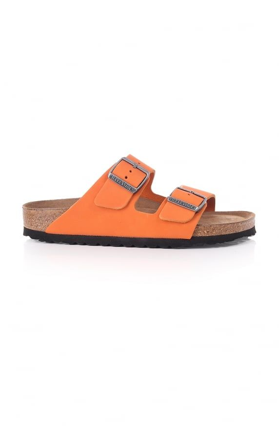 fc4c4d5f01f Birkenstock arizona nubuck with soft footbed orange