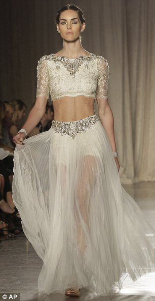 Is This What Blake Livelys Wedding Dress Looked Like Indian Inspired Marchesa Show Sparks Buzz With Dazzling White Gowns