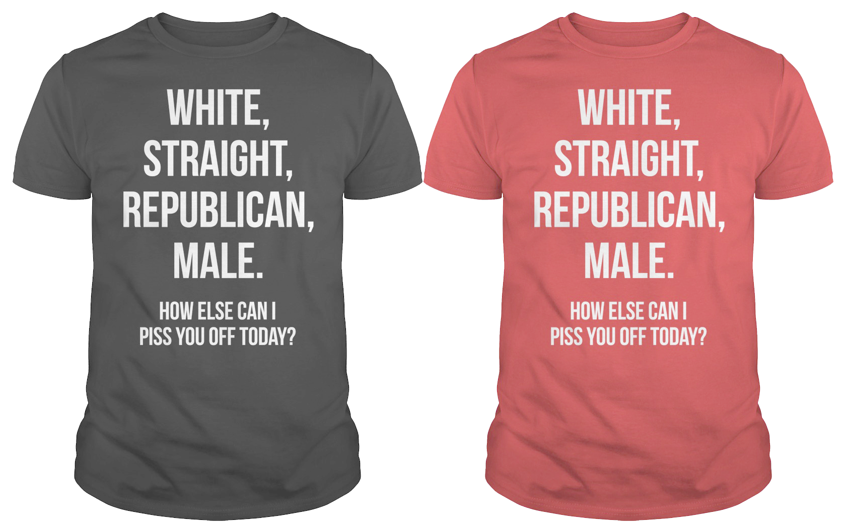 White Straight Republican Hoodie or Tee Shirt available
