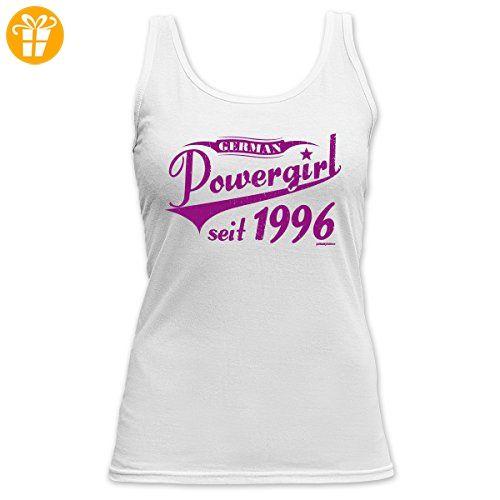 Geburtstags/Jahrgangs-Spaß-Top Damen Träger-Shirt: German Powergirl seit 1996 - Fun-Tank Top (*Partner-Link)