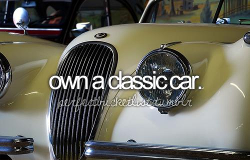 My Bucket List: Own a classic car… Preferably, a custom all electric vintage VW Beetle / Bug. Via PerfectBucketList on Tumblr. ☐ #bucket #list #bucketlist