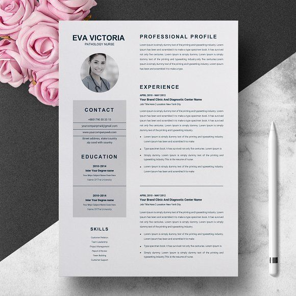 Nurse #Resume #Template + #Cover #Letter - #bestResumes Side - free nursing resume templates