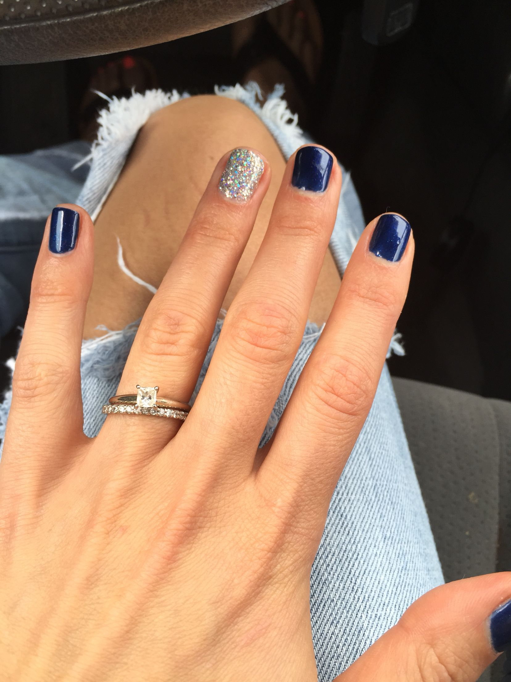 Nails Ready For The 4th Of July Shellac