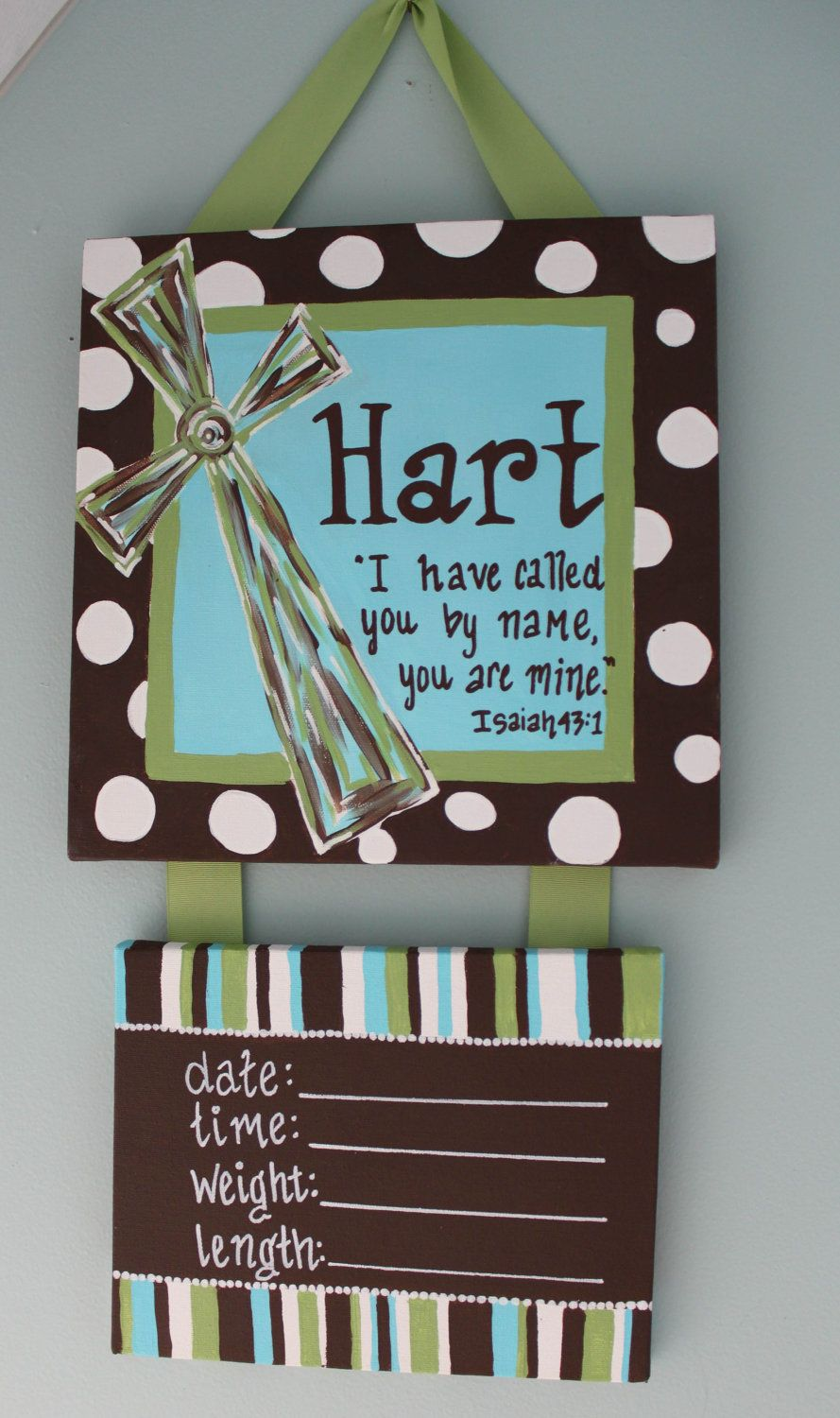 Decorative Door Hangers Scripture Cross Personalized Hospital Door Hanger For New Baby