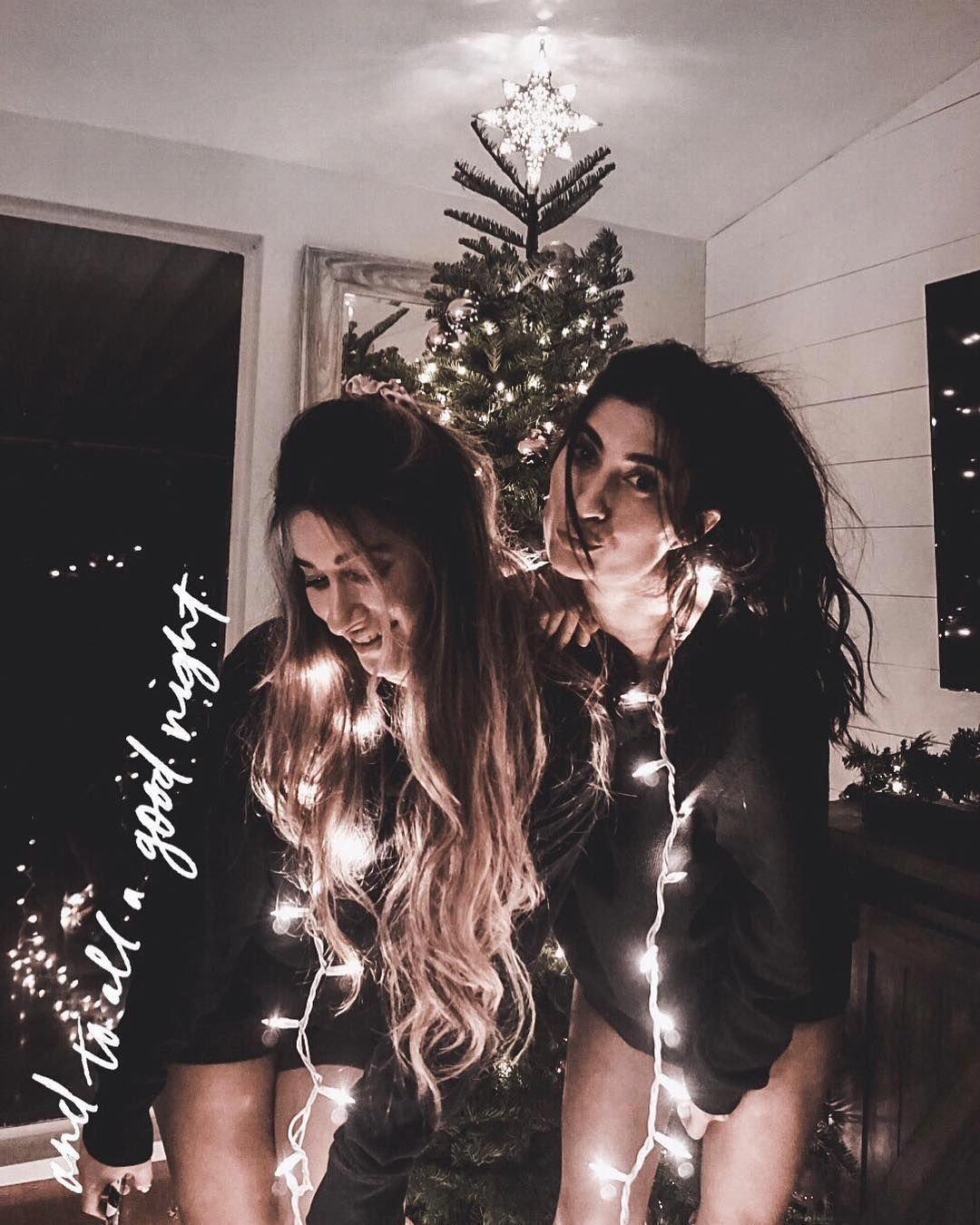 Christmas Lights Christmas Cute Photo And To All A Good Night Quote And To All A Good Night Friend Photoshoot Christmas Photoshoot Friends Photography