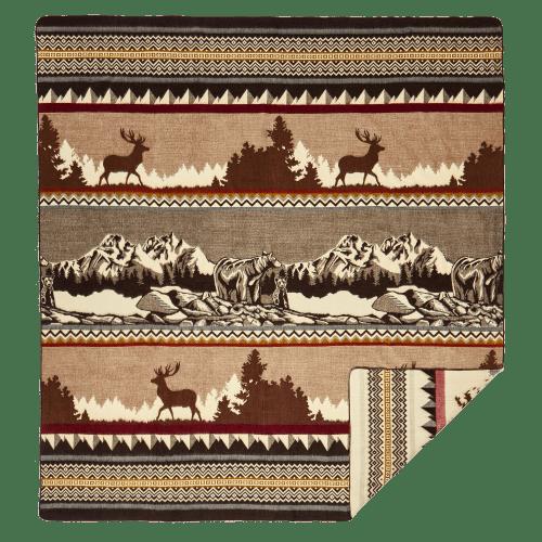 Home Decor - 82 x 93 Mountain Blanket - Multi / 95% Recycled Modacrylic 5% Alpaca