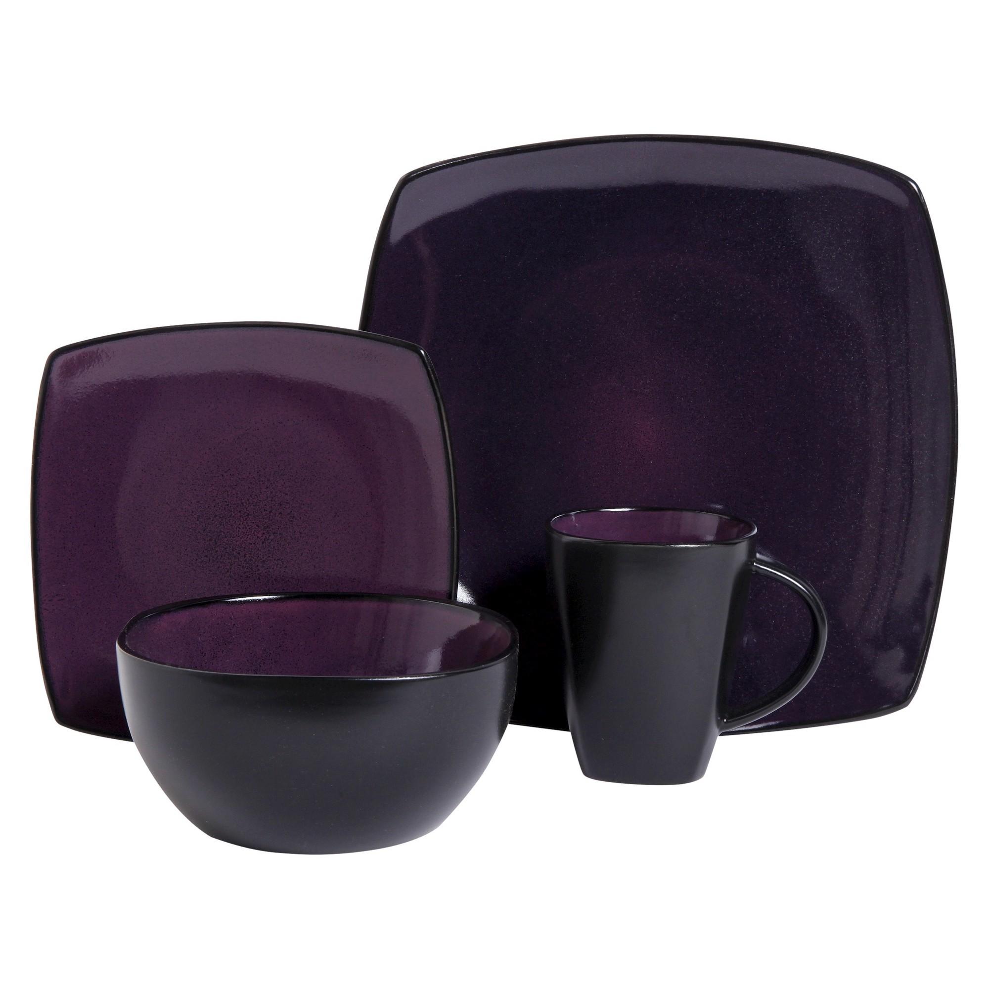 Gibson Tocata Lounge 16pc Dinnerware Set Plum  sc 1 st  Pinterest & Gibson Tocata Lounge 16pc Dinnerware Set Plum (Purple) | Dinnerware ...