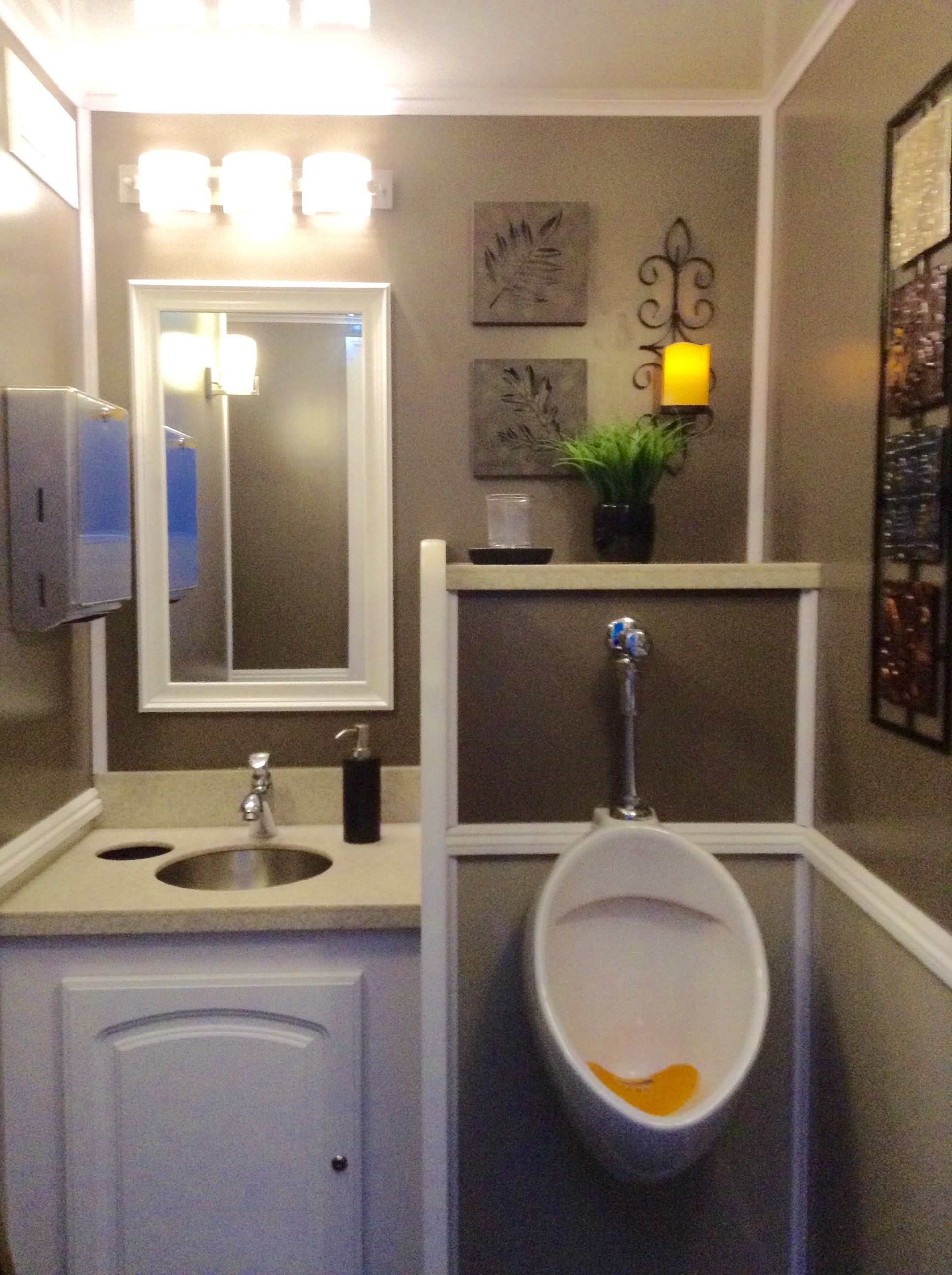Two Stall Solar Spa Restroom Trailer Rental Royal Throne