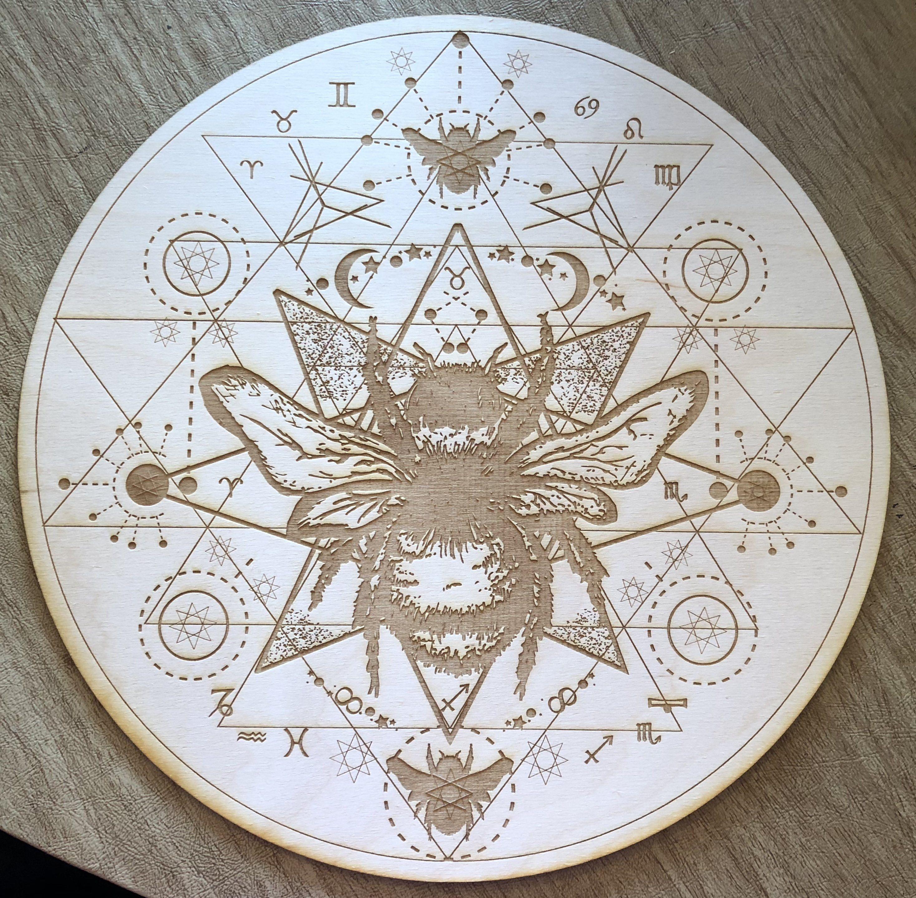 Honey Bee Crystal Grid Crystal Grid Sri Yantra Bee