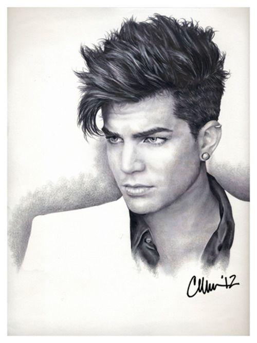 Adam Lambert Drawing (#2) By ~Live4ArtInLA BEAUTIFULLY
