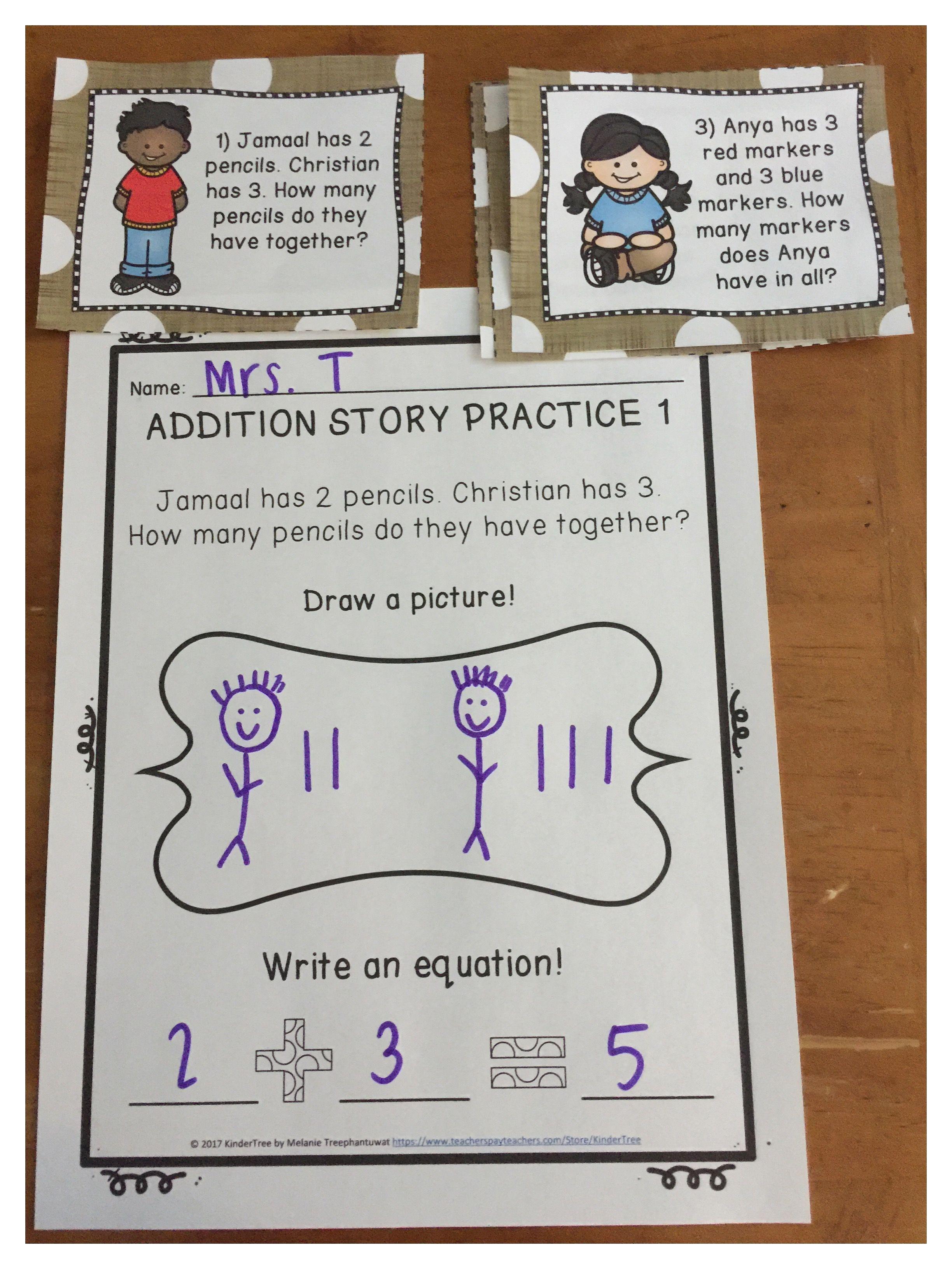 Kindergarten Addition And Subtraction Stories Printable