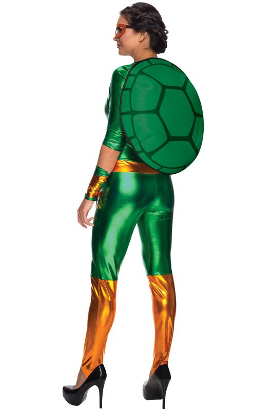 Brand New Ninja Turtles Michelangelo Bodysuit Women Adult Costume
