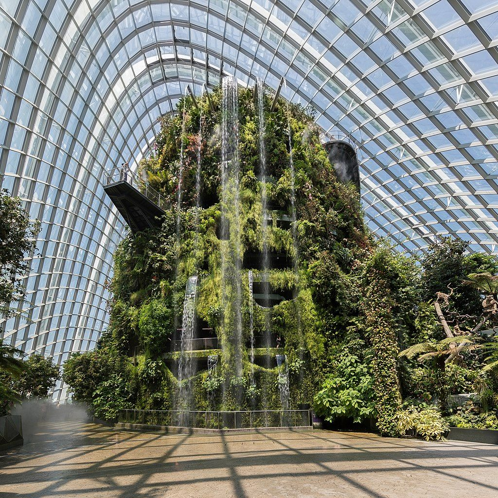 Cloud Forest Gardens By The Bay Singapore List Of Waterfalls By Height Wikipedia Winter Landscape Photography Indoor Water Features Gardens By The Bay