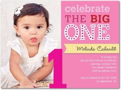 Top 25 ideas about Annas First Birthday – 1 Year Birthday Invitations