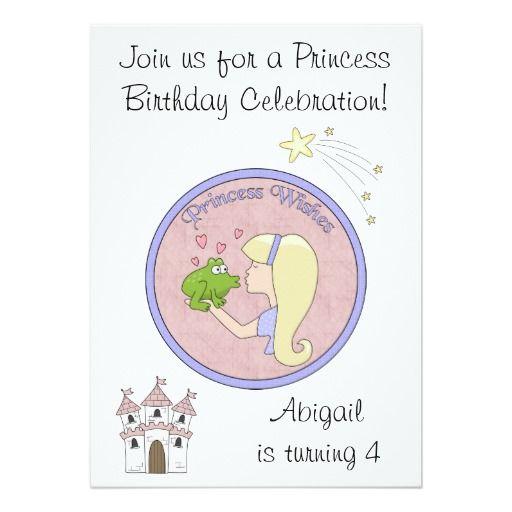 Blond Princess, Frog and Unicorn Birthday Invite