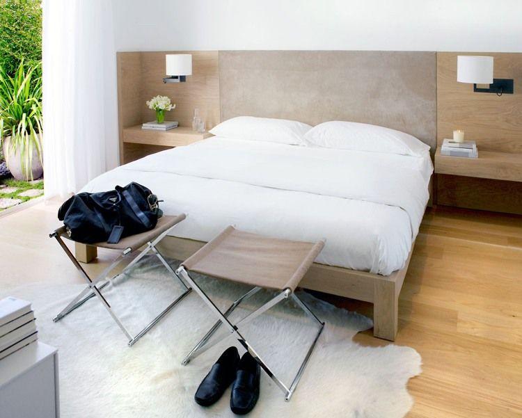 bett mit regal eingebaut am kopfteil modernes schlafzimmermbel set - Bett Regal Stauraum Ablage