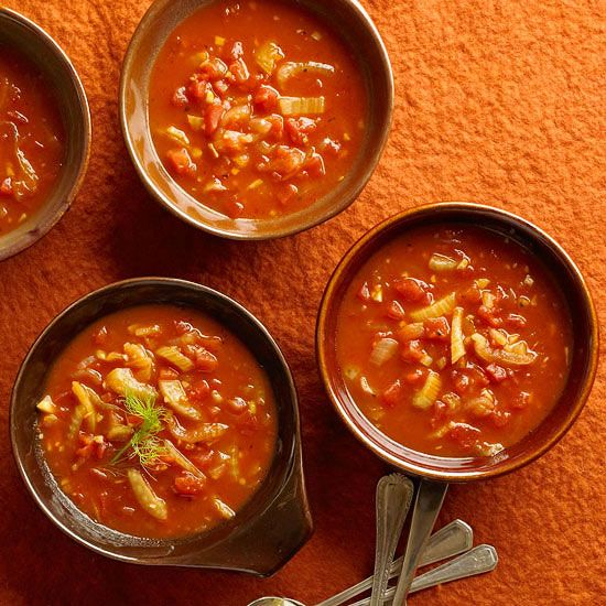 Tomato-Garlic Soup with Fennel