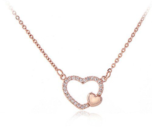 Tiny Sweet Heart Necklace First Sight Love Necklace Simple Love