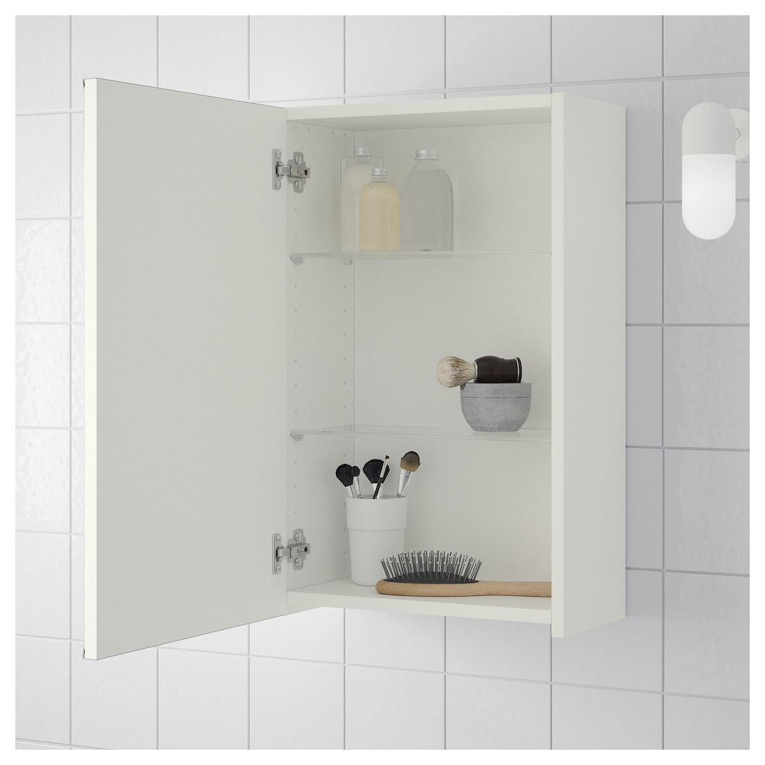 Lillangen Mirror Cabinet With 1 Door White 15 3 4x8 1 4x25 1 4 Ikea Wall Cabinet Mirror Cabinets Bathroom Wall Storage