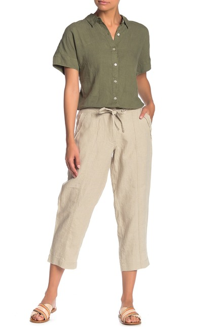 Two Palms Seam Cropped Linen Pants #nordstromrack