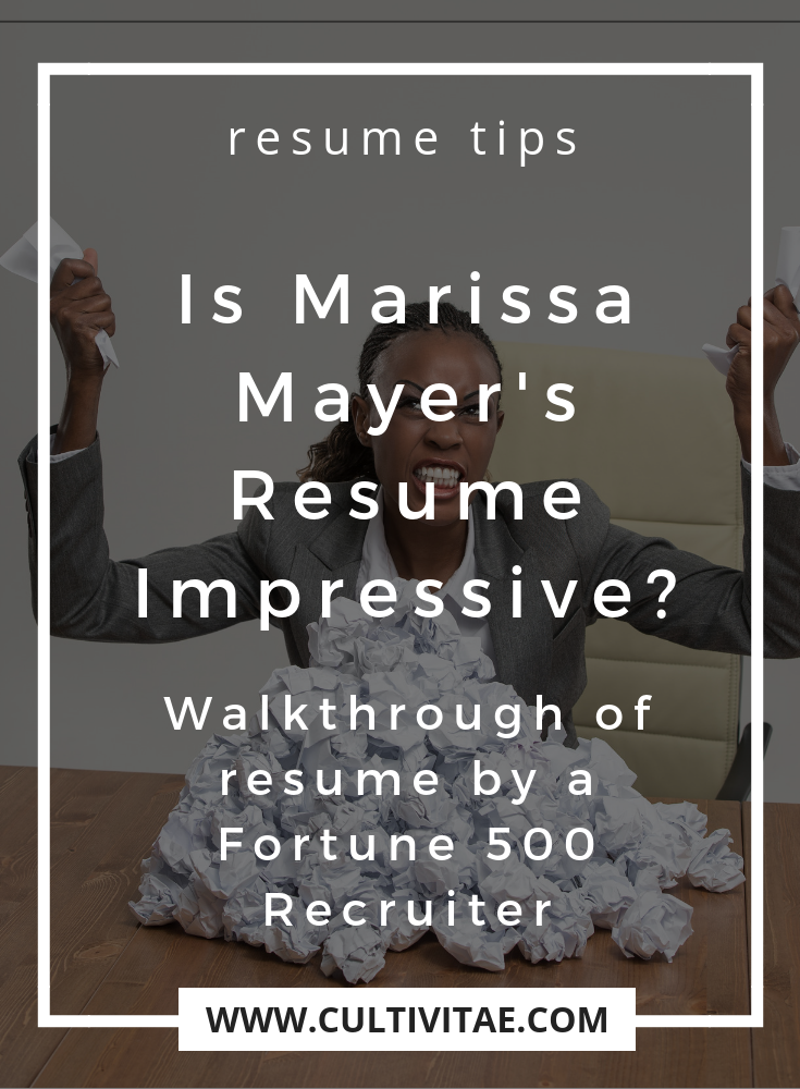 Is Marissa Mayer S Resume Impressive Cultivitae Cultivate Your Life And Career Life Skills Job Hunting Tips Career