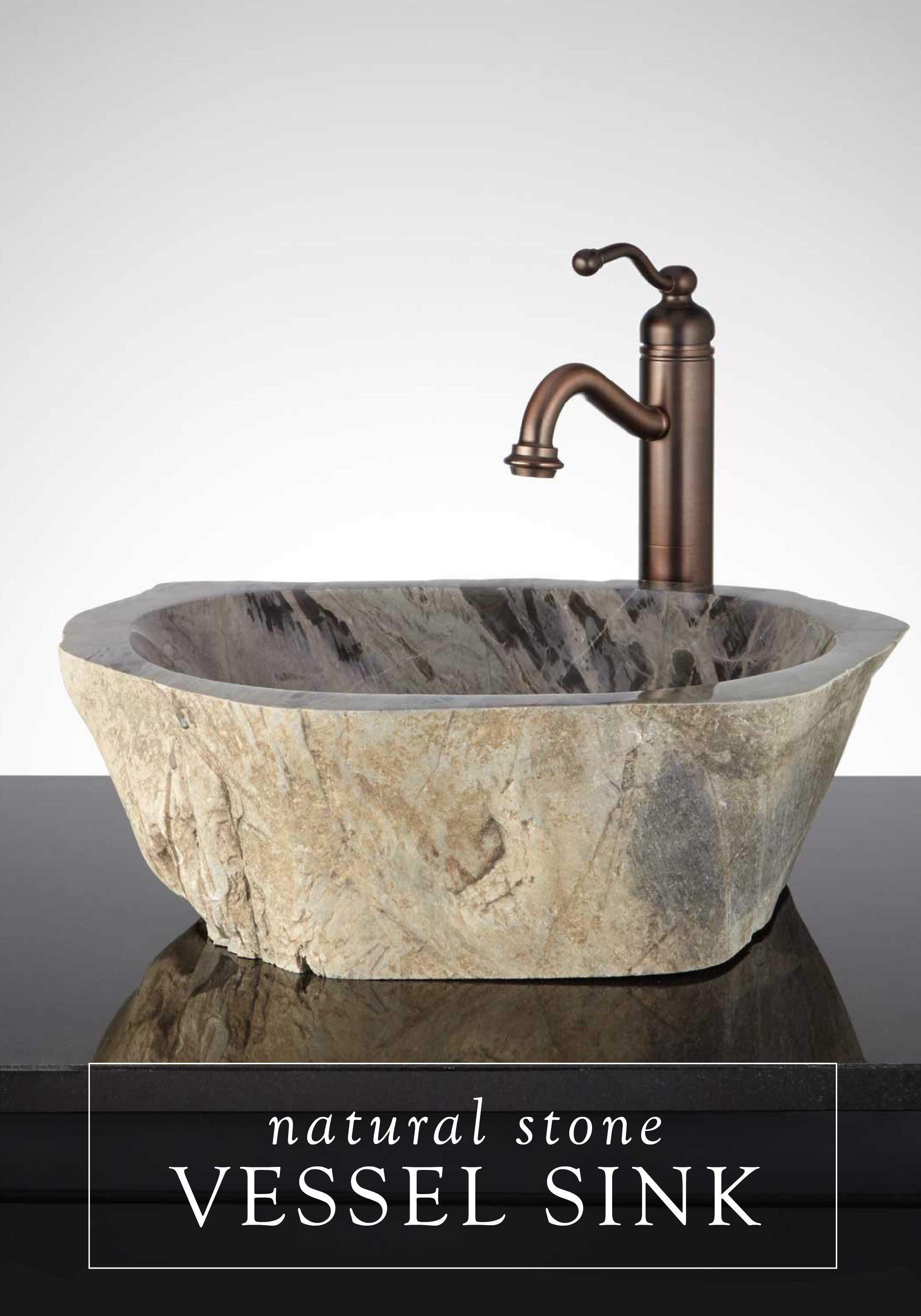 This Natural Stone Vessel Sink Is The Perfect Way To Add An Earthy