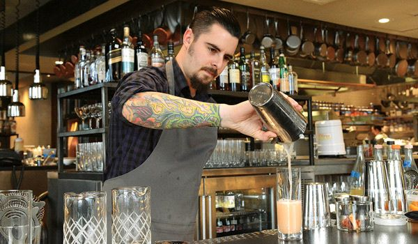 """What to Drink Now.  The latest bartending trends in Northern Virginia, from exotic infusions and barrel-aged cocktails to moonshine. Gypsy Soul """"cheftender"""" Bryan Tetorakis. Photo by Laura Hayes."""