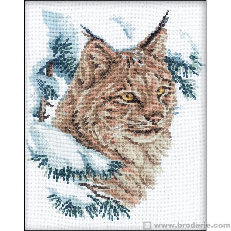 Kit point de croix chat sauvage rto la maison du canevas et de la broderie diy broderie - La maison de la broderie ...