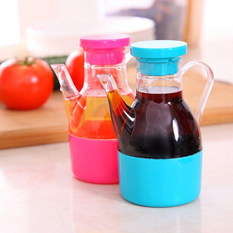 Plastic Oil Vinegar Cruet Bottle Sauce Seasoning Pot Container E Jar Kitchen Cooking Tools En1588