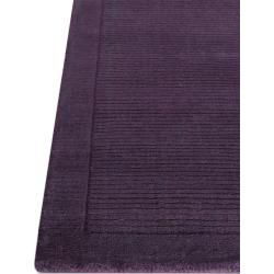 Photo of benuta Naturals wool carpet plain purple 200×290 cm – natural fiber carpet made of wool