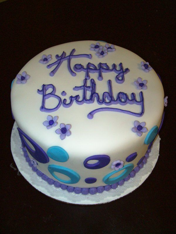 Purple Birthday Cake By See Through Silence On Deviantart Cake