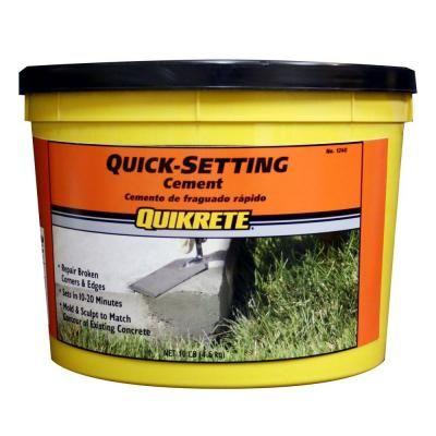 Quikrete 10 Lb Quick Setting Cement Concrete Mix 124011 Cement