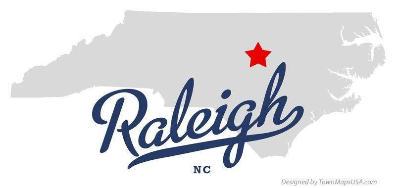 NORTH CAROLINA RALEIGH Map Of Raleigh North Carolina NC US - Where is nc on the us map